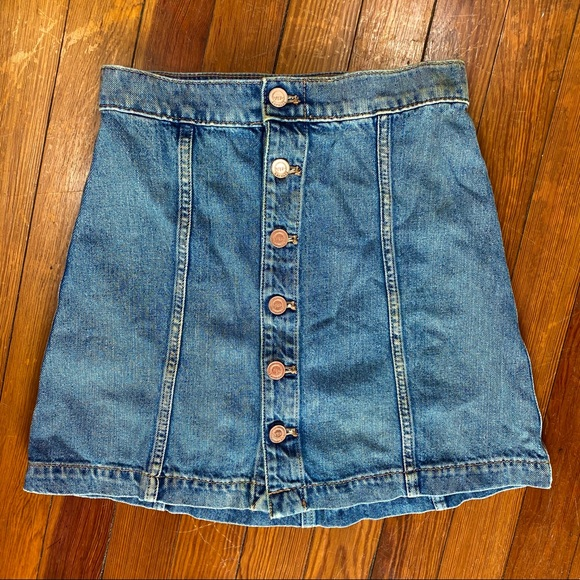 Karlie Kloss Express Button Up Denim Skirt Size 00